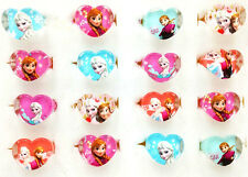 100pcs Frozen children's cartoon resin heart party rings anna and elsa free P&P
