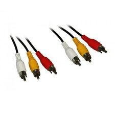 Audio-Video-Kabel 3x Cinch - 3x Cinch 10,0 m