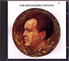 Willem MENGELBERG Edition 3 Bach Mozart Puccini Schubert Weber CD + Interview