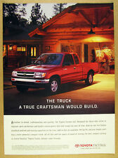 1997 Toyota Tacoma 4x2 Pickup Truck log timber house photo vintage print Ad