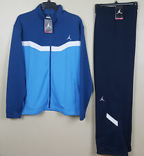 NIKE AIR JORDAN WARM UP SUIT JACKET + PANTS FRENCH BLUE NAVY RARE NWT (SIZE 2XL)