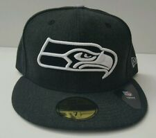 New Era 59/50 Fitted Hat - Seattle Sea Hawks (Heather Black/ Heather Gray)