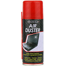 6 x Compressed Air Duster Spray Can Cleans & Protects Laptops Keyboards... 200ml