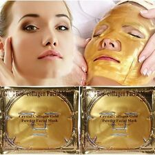 Gold Bio Collagen Facial Face Mask High Moisture Anti-Aging Remove Wrinkle New