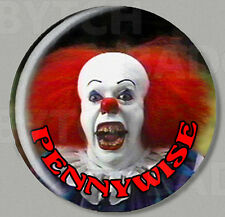 IT CLOWN PENNYWISE ROUND FRIDGE MAGNET - HORROR CLASSIC ! Style 'B'