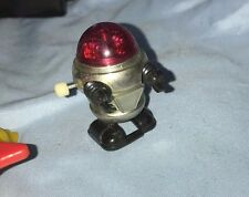 Vintage 1977 Tomy Wind-Up Mini Space Rascal Robot Taiwan Black Hands Red Top