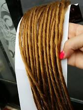 20 DOUBLE ENDED DREAD LOCK RASTA EXTENSION COLORE BIONDO RAME