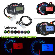 12V 15000rpm Motorcycles ATV LCD Digital 2-Colors Odometer Tachometer Gauge KM/h