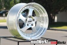 17x9.5 Inch +30 ESR SR02 5x120 Machined Silver Wheels Rims BMW e36 e46 e30 e34
