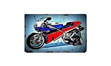 1990 honda rc30 Bike Motorcycle A4 Retro Metal Sign Aluminium