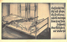 WWII Germany Soldiers Comic Cot Rifle Feldpost Cancel Original Postcard