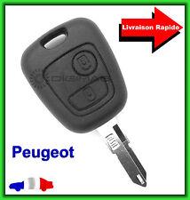 Coque Télécommande Plip Bouton Clé Peugeot 106 206 306 + Lame vierge
