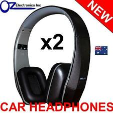 2x UNIVERSAL IR Infrared Headphones compatible with CLARION IR700 CAR DVD player