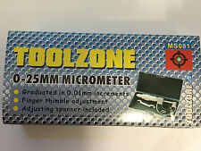 Toolzone Engineers Metric External Micrometer 0-25MM MS081