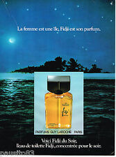 PUBLICITE ADVERTISING 055  1978  GUY LAROCHE  parfum FIDJI 2
