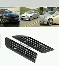Hyundai Suv Car Accessories Exterior Black Duct Racing Side Vent Air Flow Fender