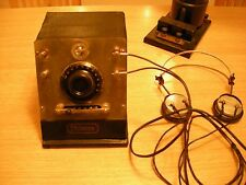 ANTIQUE BLACKBIRD PHILMORE CRYSTAL RADIO SET SLANT FRONT WITH WORKING HEADPHONES