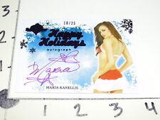 2012 BENCHWARMER Maria KANELLIS Happy Holidays Purple Ink Autograph/25 WWE Diva