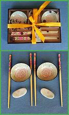 8 tlg. Sushi-Set  für 2 Personen  asia Design  Keramik
