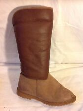 L.L.Bean Brown Mid Calf Leather Boots Size 3