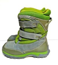 Lands End Snow Boots Heavy Duty Boys Youth Size 6 Grey Green Winter Insulated