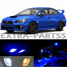 10x Blue Interior LED Light Package Kit Dome Map for 2015-2016 Subaru WRX STI