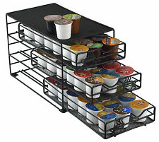 3-Tiered Keurig K-cup Storage Coffee Pod Drawer 54 K-cups Black Kitchen Gifts