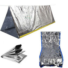 Insulated Emergency Tube Tent Solar Silver Mylar Survival Camping Shelter Tarp