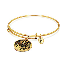 Chrysalis Snowman Expandable Bangle in 14k Gold Plate, CRBT0405GP