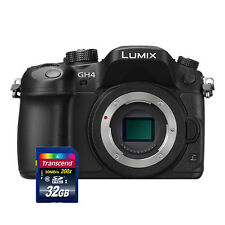 Panasonic Lumix DMC-GH4 Mirrorless Digital Camera Body Black + 32GB Card