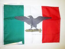 BANDERA de la REPÚBLICA SOCIAL ITALIANA 45x30cm - BANDERINA ITALIA FASCISTA - RS