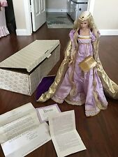 Franklin Mint Rapunzel Porcelain Heirloom Doll with Box and COA
