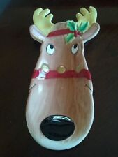 Christmas Fitz & Floyd Snack Therapy Reindeer Platter Server - Retails for $26
