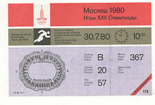 Orig.Ticket   Olympic Games MOSKAU 1980  -  ATHLETICS / 30.07.- with 5 Final`s !