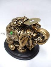 Chinese Feng Shui Lucky Trunk Up Elephant Money Frog Coin Toad Figurine #E