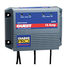 Guest 15 Amp 3 Battery Marine Boat Charger 3 Bank 15A 2613A