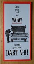 DODGE Dart V8 ORIG 1964 USA MKT la brochure commerciale