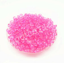200Pcs 6mm Pink  Rondelle  Acrylic Spacer Loose Beads  Free Ship