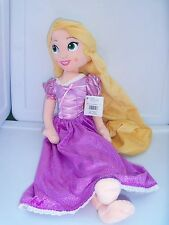 NWT Disney Tangled Princess Rapunzel soft plush doll purple dress Disney Store