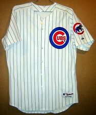 CHICAGO CUBS MOISES ALOU WHITE PINSTRIPE AUTHENTIC MLB JERSEY