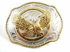 Silver Strike American Eagle in Flight Belt Buckle 11142013