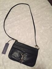 NWT Rebecca Minkoff Skinny Mac W/Crossbody Strap Small Black Genuine Leather Bag