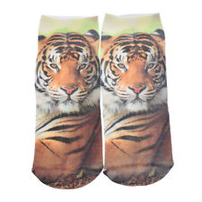 Hot 3D Printed Animal Tigers Casual Men Women Cotton Low Cut Ankle Socks Cotton