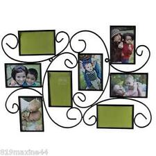 Large Black 8-Opening Metal Wire Collage Frame, wall art, picture memories, gift