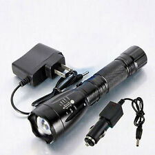 3000LM 5Modes Rechargeable Focus Zoom LED 18650 Flashlight Torch with 2 Charger