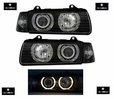 2 FEUX PHARE AVANT ANGEL EYES BMW SERIE 3 E36 BERLINE + CLIGNOTANTS 325 TDS 320i