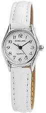 Damenuhr Excellanc Damen Armbanduhr in Weiß Kunstlederband Neu 190022000030