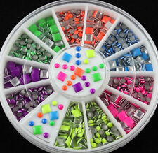 Assorted Metal Nail Studs 3D Nail Art Decorations Round Shapes Studded Manicure
