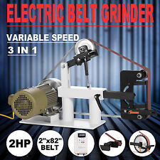 """BELT GRINDER SANDER 2""""x82"""" PHEER 2HP ADJUSTABLE STEEL FABRICATION GRINDING WHEEL"""