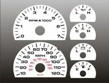 2004-2008 Ford F150 Dash Instrument Cluster White Face Gauges F-150 04-08